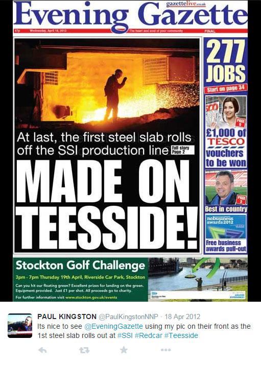 Scrap Price News - Evening Gazette Redcar Closure