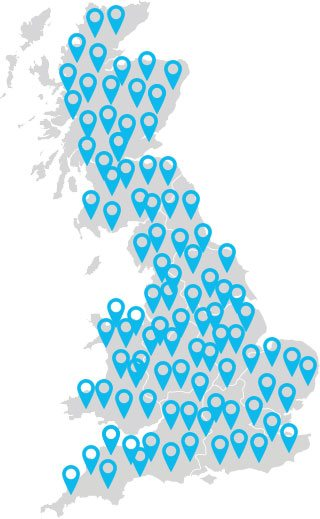Scrap car collection locations in England, Scotland and Wales