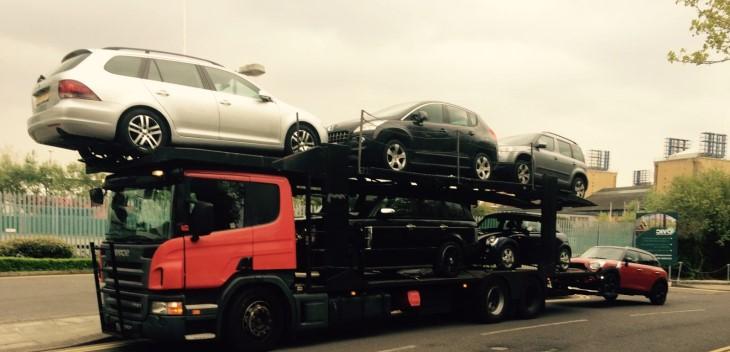 Scrap car collection in Glastonbury